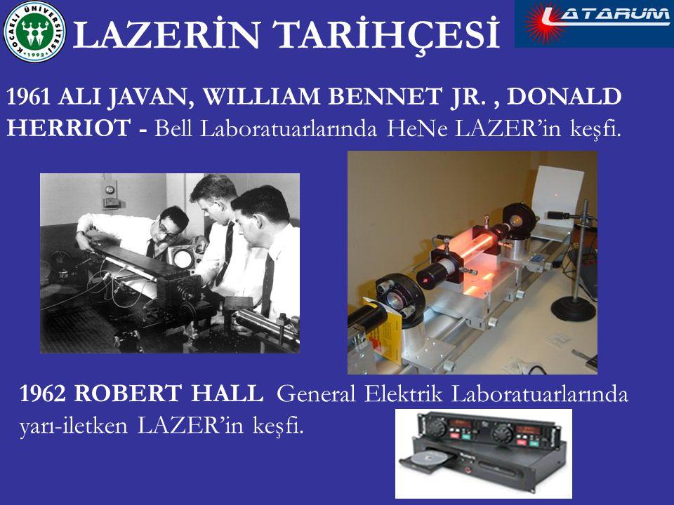 1961 ALI JAVAN, WILLIAM BENNET JR., DONALD HERRIOT - Bell Laboratuarlarında HeNe LAZER'in keşfi.