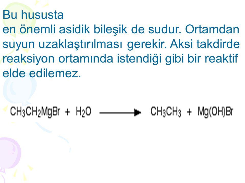 Grignard Reaktiflerinin Tepkimeleri A)oksiranlar(epoksitler) ile tepkimeleri Grignard reaktifleri oksiranlarla tepkimeye girdiklerinde doymuş bir karbona nükleofilik atak gerçekleşir.birincil alkoller için uygun bir sentez yolu oluşturur.