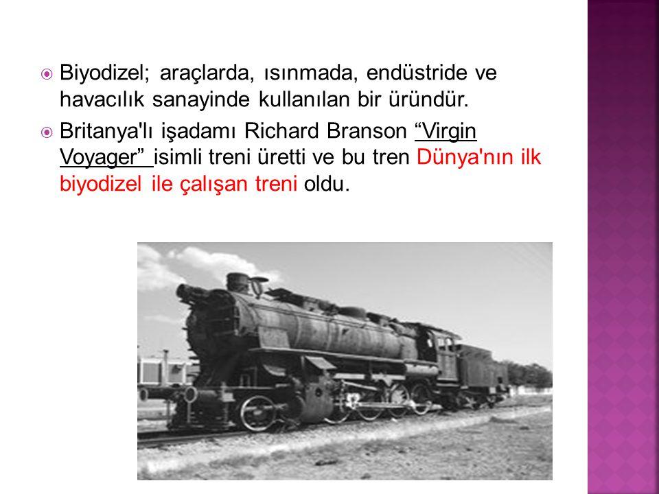  Ankara Büyükşehir Belediyesi, ekilen kanola bitkisinden elde edilecek biyodizelin EGO otobüslerinde kullanılmasını hedefliyor.