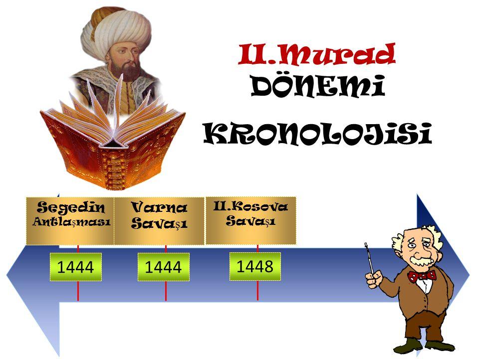 II.Murad Dönemi Olaylarına bakalım II.Murad 1422 Yılında İstanbul Kuşatıldı.