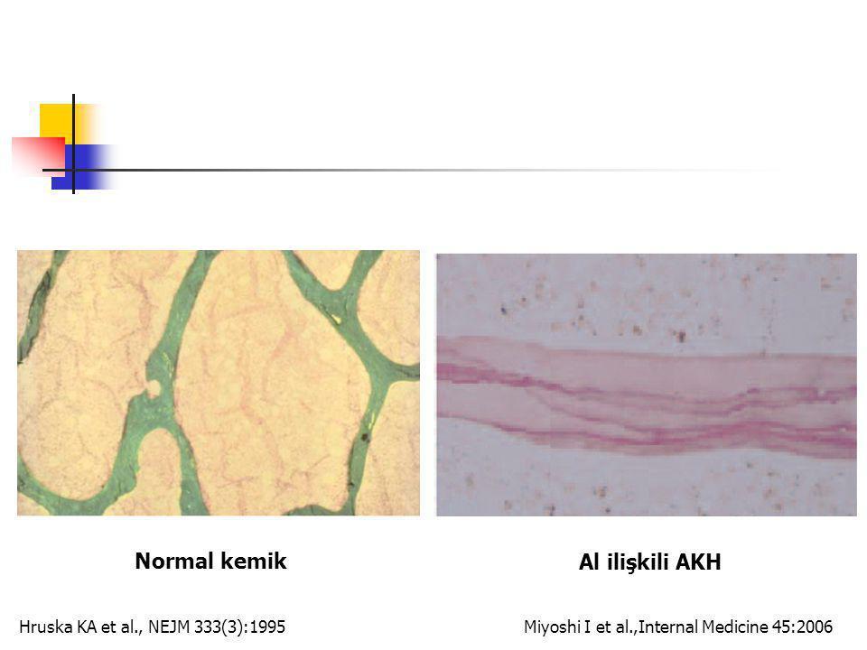 Normal kemik Al ilişkili AKH Miyoshi I et al.,Internal Medicine 45:2006Hruska KA et al., NEJM 333(3):1995