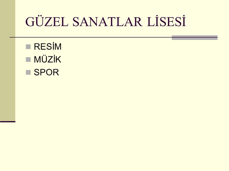 GÜZEL SANATLAR LİSESİ RESİM MÜZİK SPOR