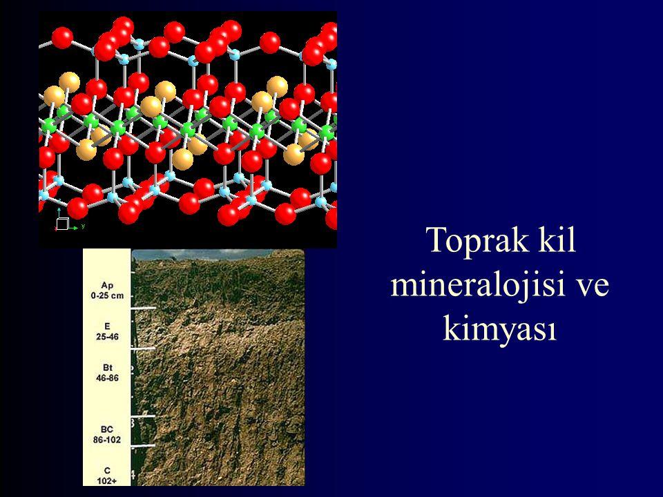 Yerkabuğu Elementleri 12500 km çap 8-35 km kabuk yeryüzü kabuğundaki atom ağırlık %'leri O= 49.2 Si= 25.7 Al= 7.5 Fe= 4.7 Ca= 3.4 Na= 2.6 K= 2.4 Mg= 1.9 diğer= 2.6 82.4%