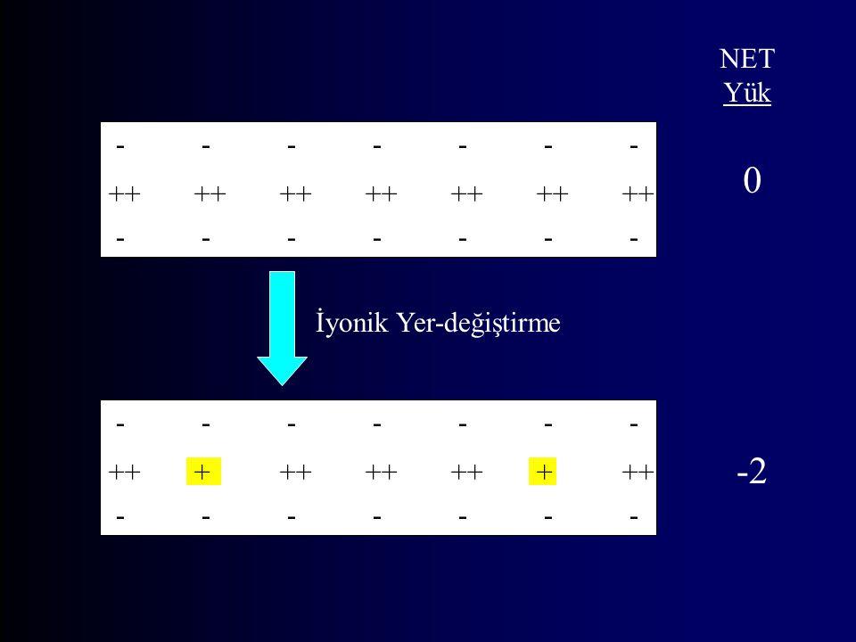 -------------- -------------- ++++++++++++++ -------------- -------------- ++++++++++++ İyonik Yer-değiştirme NET Yük 0 -2