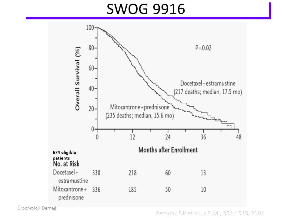 SWOG 9916 Petrylak DP et al., NEJM., 351:1513, 2004 674 eligible patients Üroonkoloji Derneği