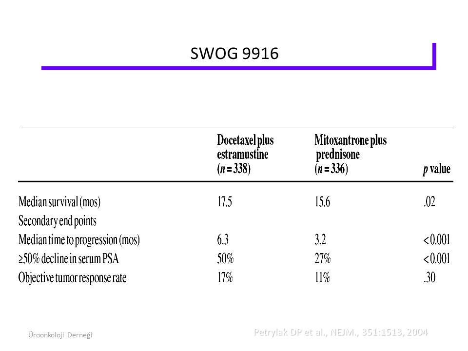 SWOG 9916 Petrylak DP et al., NEJM., 351:1513, 2004 Üroonkoloji Derneği