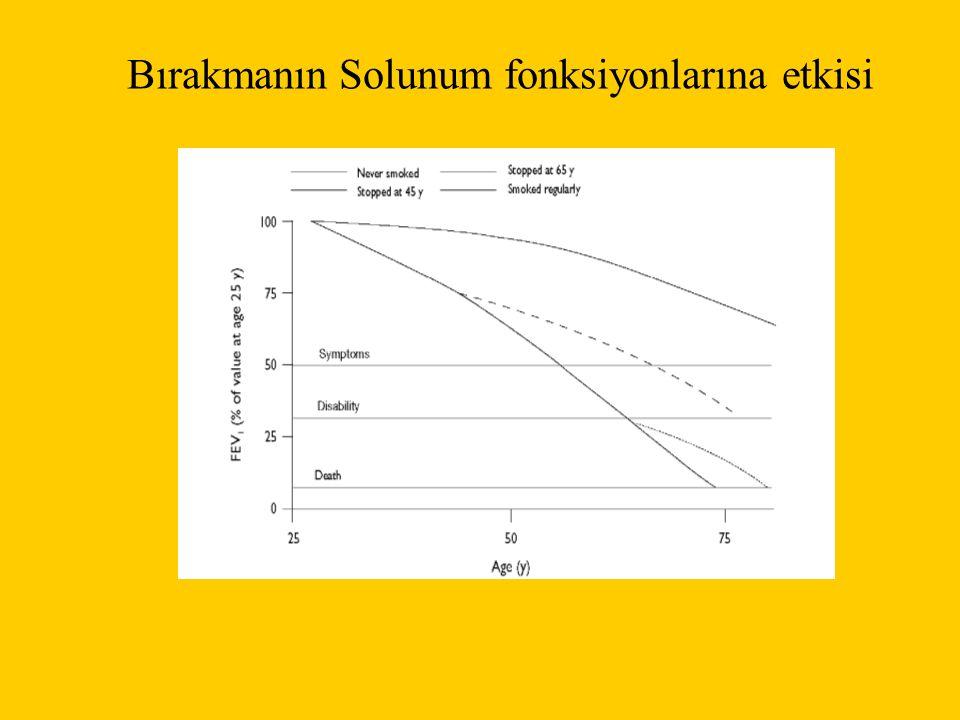 Bırakmanın Solunum fonksiyonlarına etkisi