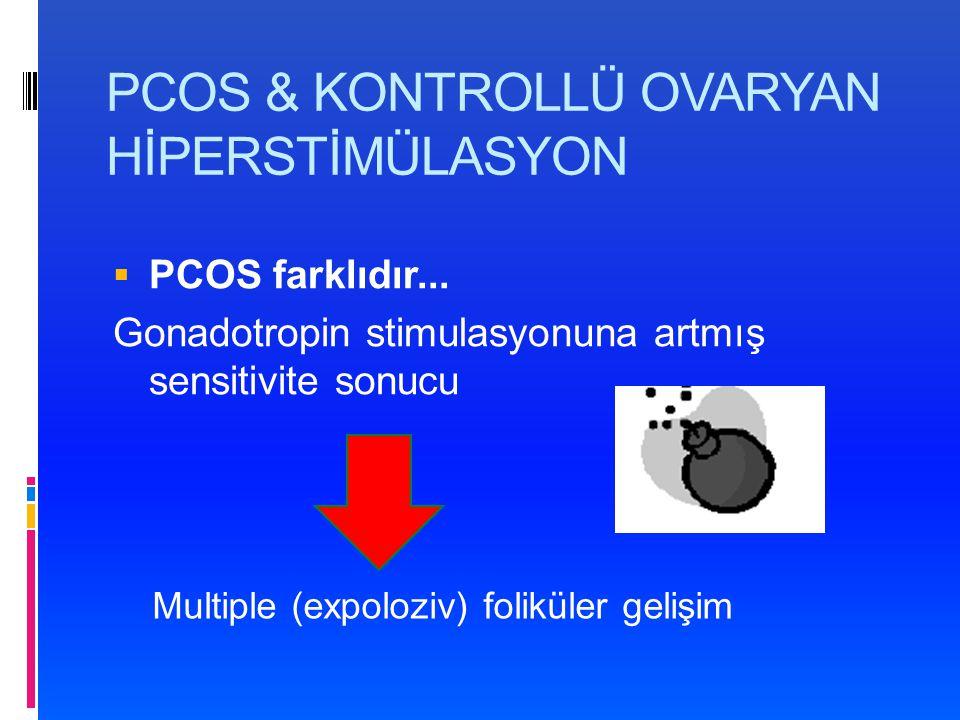 PCOS & KONTROLLÜ OVARYAN HİPERSTİMÜLASYON  PCOS farklıdır...