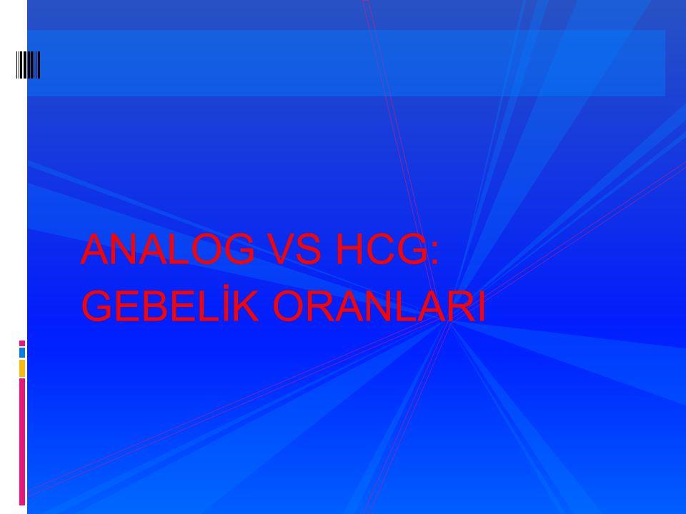 ANALOG VS HCG: GEBELİK ORANLARI