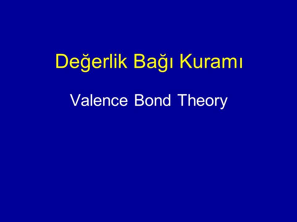 Valence Bond Theory Değerlik Bağı Kuramı