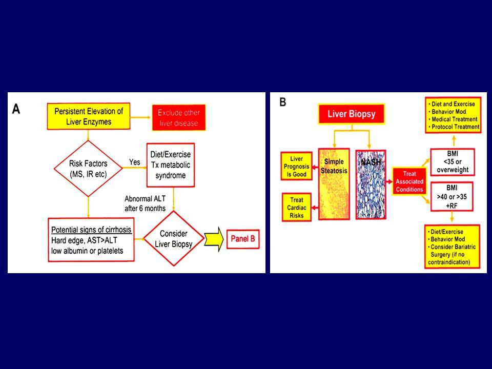 PENTOXİFYLINE ( Anti TNF-  ) NASH'de TNF-  üretimi  TNF-  hepatik inflamasyonda önemli 30 hasta, 12 ay, 3x400 mg ile KCFT  Steatozis ve lobüler inflamasyon  Bulantı, abdominal kramp Rinella M.et al 2009