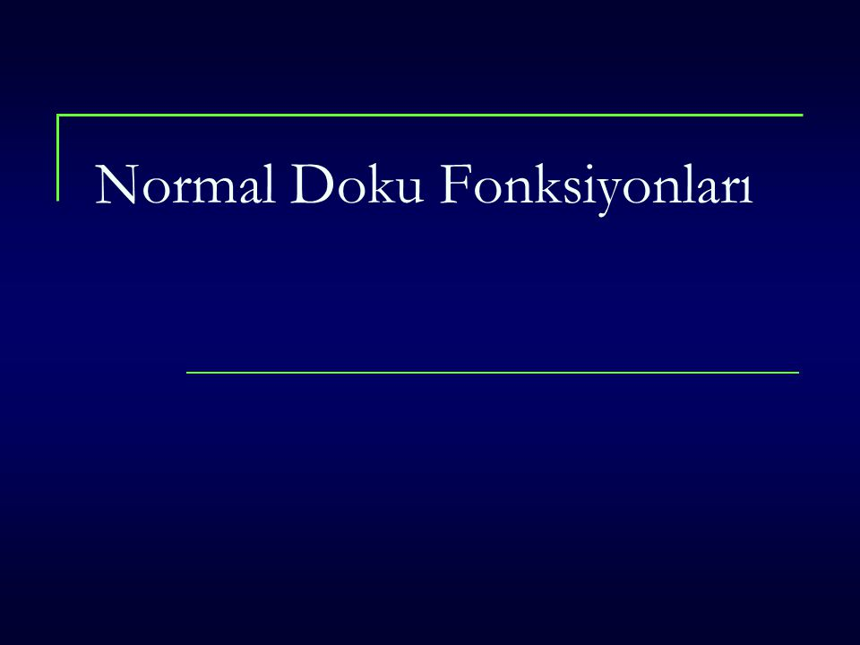 Normal Doku Fonksiyonları