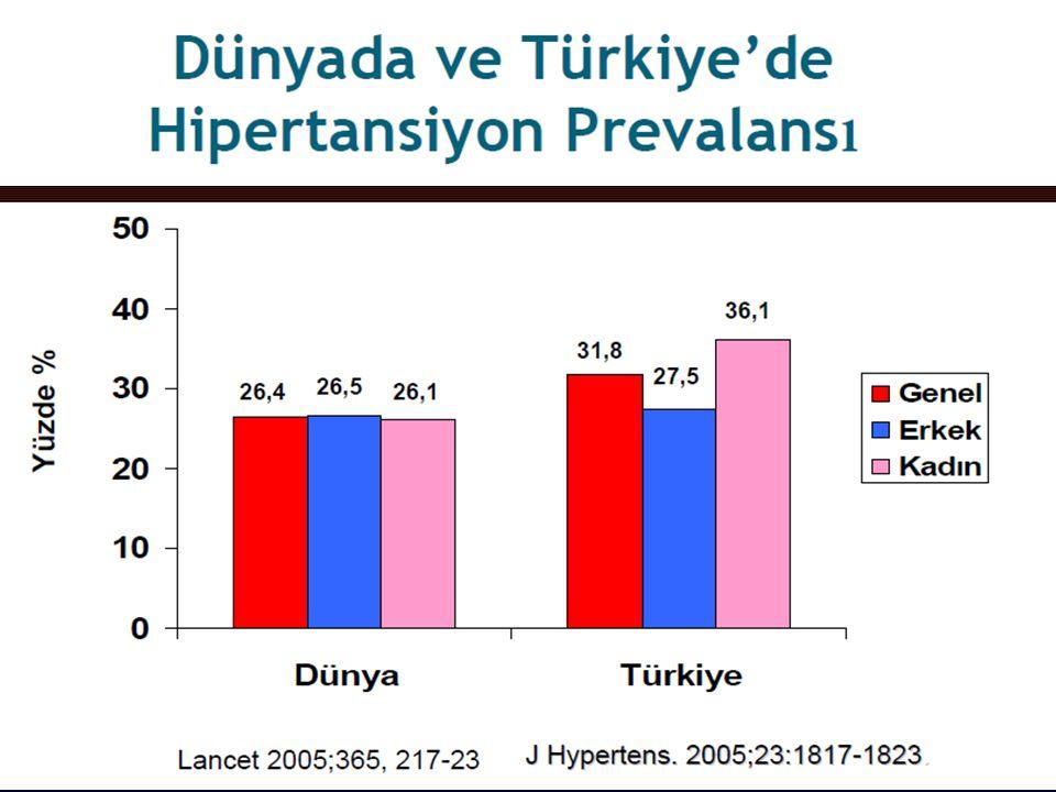Türk Hipertansiyon ve Böbrek Hastalıkları Derneği Ölüm Nedenleri %58 Kardiyak/ vasküler HinT çalışması