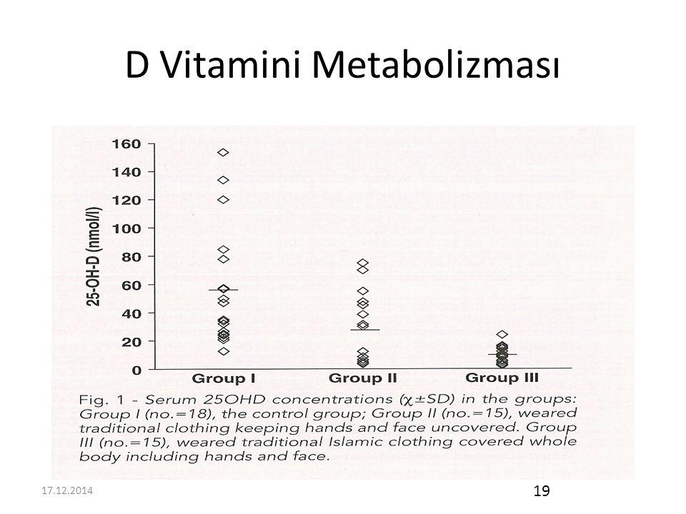 17.12.2014 19 D Vitamini Metabolizması