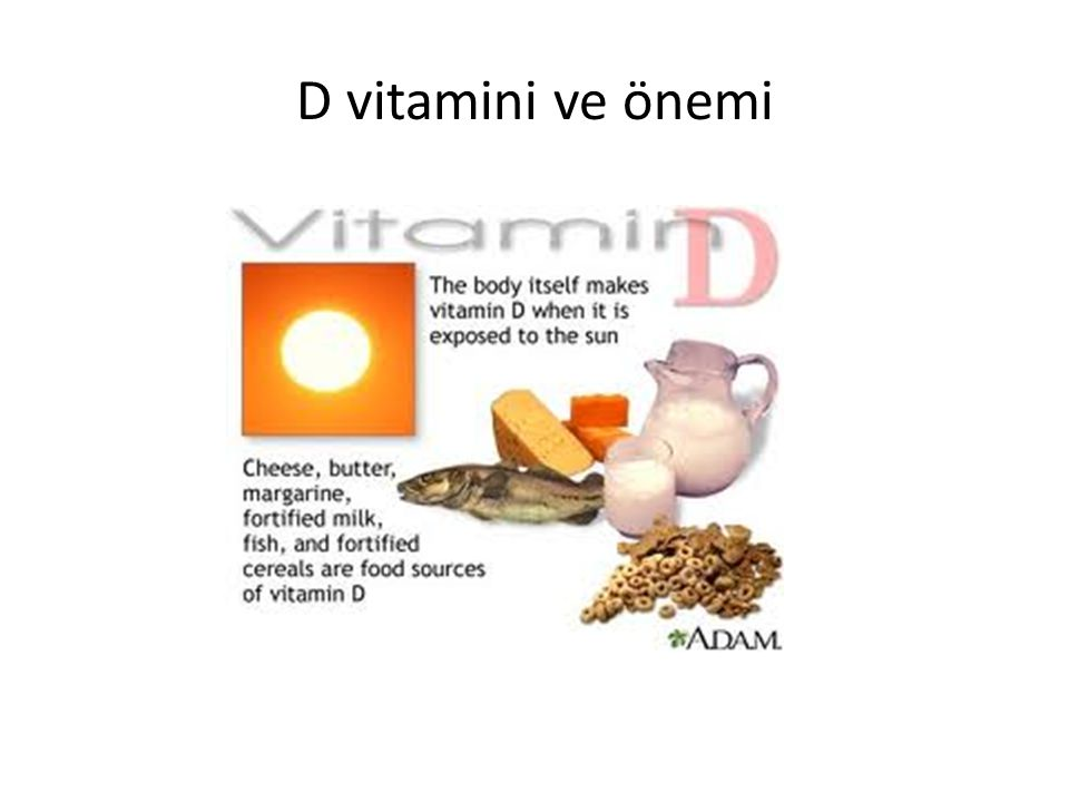 17.12.2014 39 D Vitamini ve önemi Öneriler Yaşlılarda haftada en az üç defa 5-30 dakika el, önkol, yüzü içine alacak şekilde güneşlenme Yaşlılara 800 IU/gün (1 multivitamin, 1 D vitamini tablet) D vitamini yetersizliği hafif ise(25OHD 8-15 ng/ml; Ca normal) 800 IU D vit, 1500 mg Ca D vitamini yetersizliği ağır ise (25OHD < 8ng/ml ve hipokalsemi) 50 000 IU/gün 1-3 hafta, haftada bir ve ayda iki defa ile devam, hastalık düzelince idame tedavisi