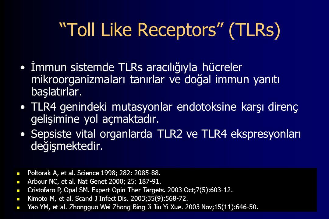 Toll Like Receptors (TLRs) İmmun sistemde TLRs aracılığıyla hücreler mikroorganizmaları tanırlar ve doğal immun yanıtı başlatırlar.