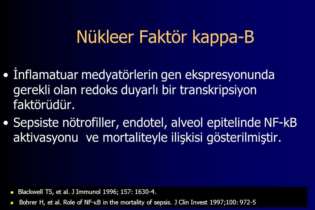 Nükleer Faktör kappa-B İnflamatuar medyatörlerin gen ekspresyonunda gerekli olan redoks duyarlı bir transkripsiyon faktörüdür.