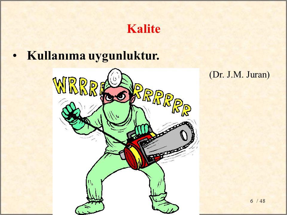 / 486 Kullanıma uygunluktur. (Dr. J.M. Juran) Kalite