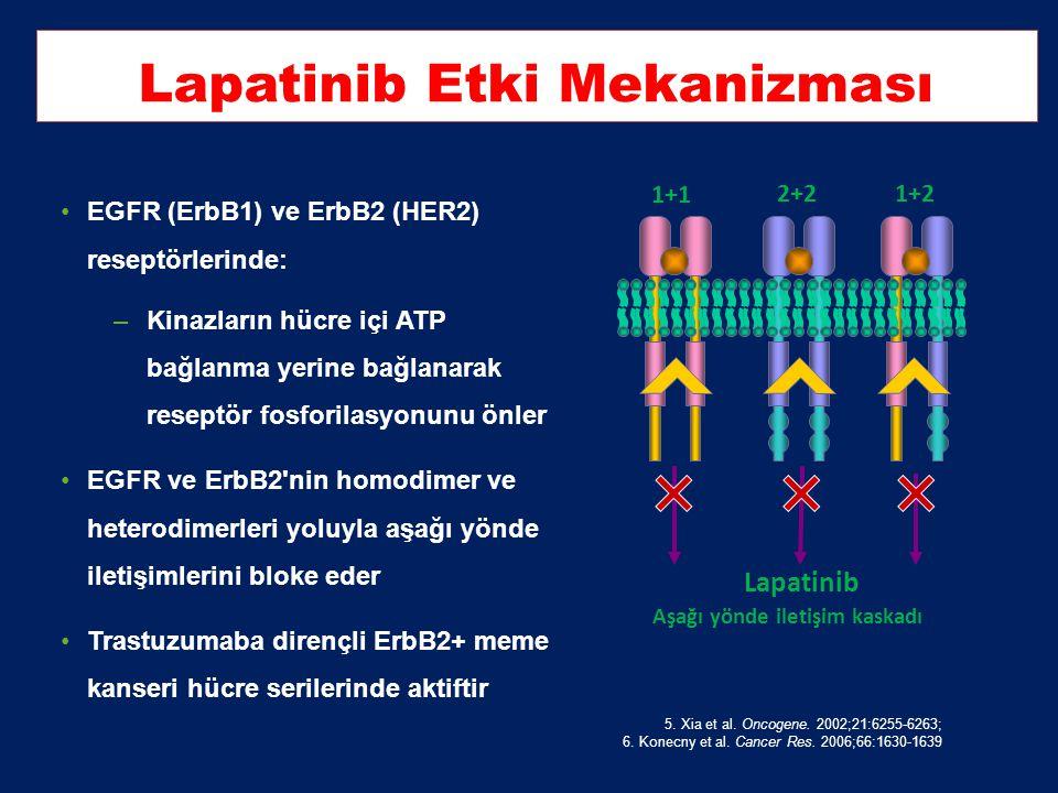 Trastuzumab Direnci 2.Vogel et al. J. Clin. Oncol. 20 (2002) 719–726 ; 3-Slamon et al. N Engl J Med 2001;344:783–92; 4- Arribas et al. Cancer Res 2011