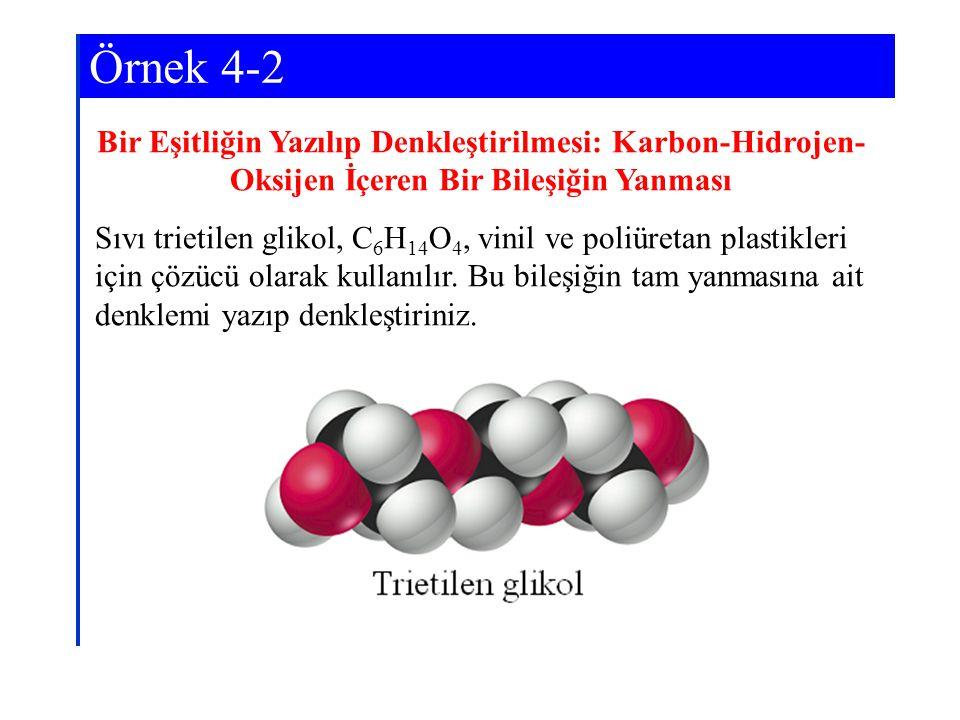 15 2 6 7 C 6 H 14 O 4 + O 2 → CO 2 + H 2 O6 2.H eşitliği.