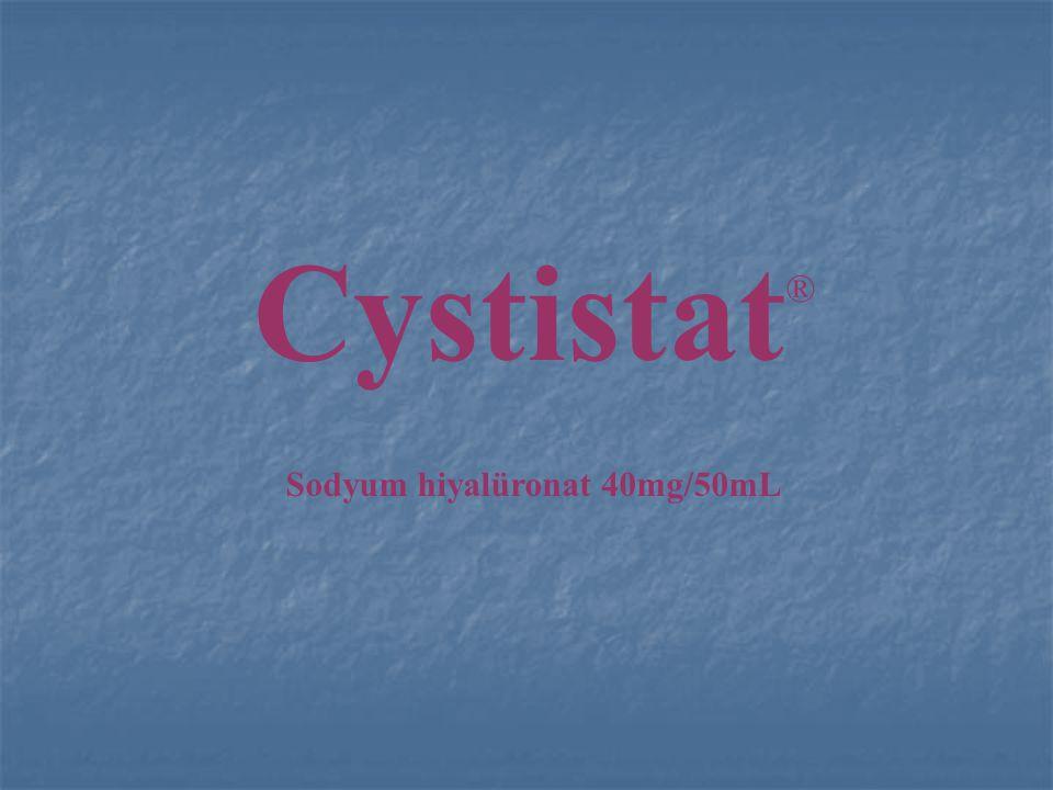 Cystistat Mantıksal Temel (Gerekçe) Bir bariyer oluşturmak için mesanenin koruyucu tabakasının geliştirilmesi önemlidir.