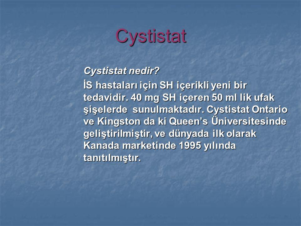 Cystistat Cystistat nedir. İS hastaları için SH içerikli yeni bir tedavidir.