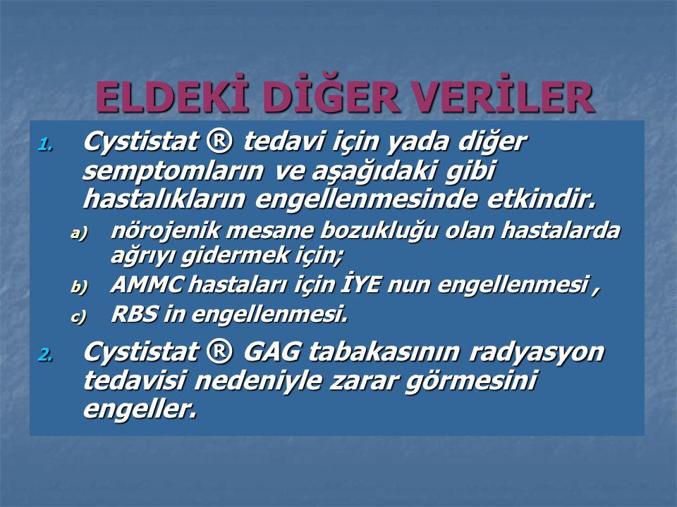 ELDEKİ DİĞER VERİLER 1.