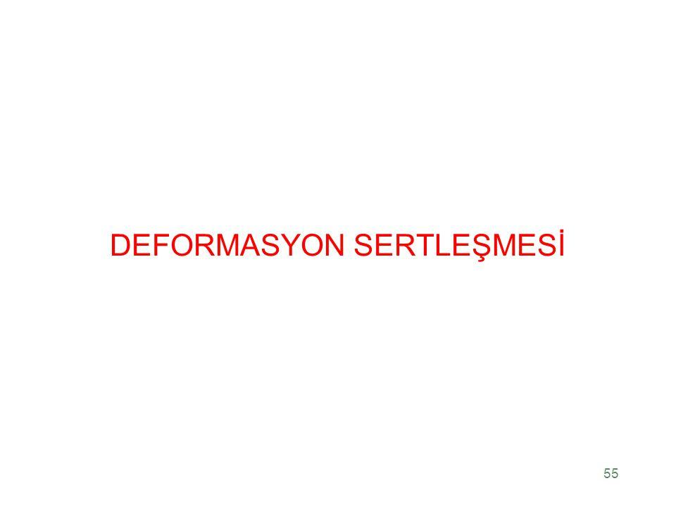 DEFORMASYON SERTLEŞMESİ 55