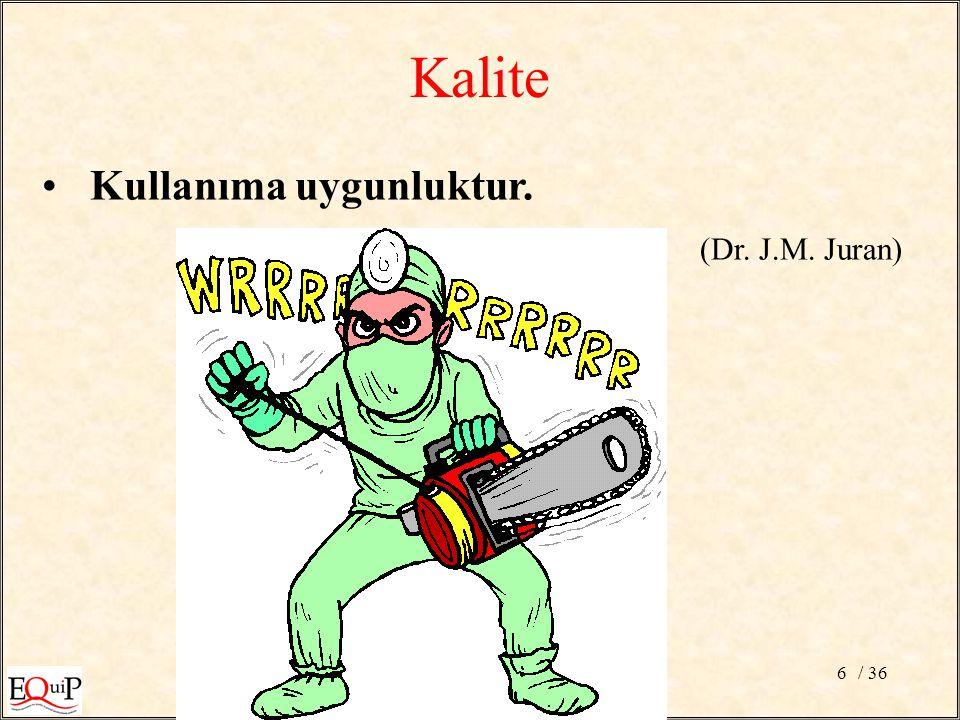/ 366 Kullanıma uygunluktur. (Dr. J.M. Juran) Kalite