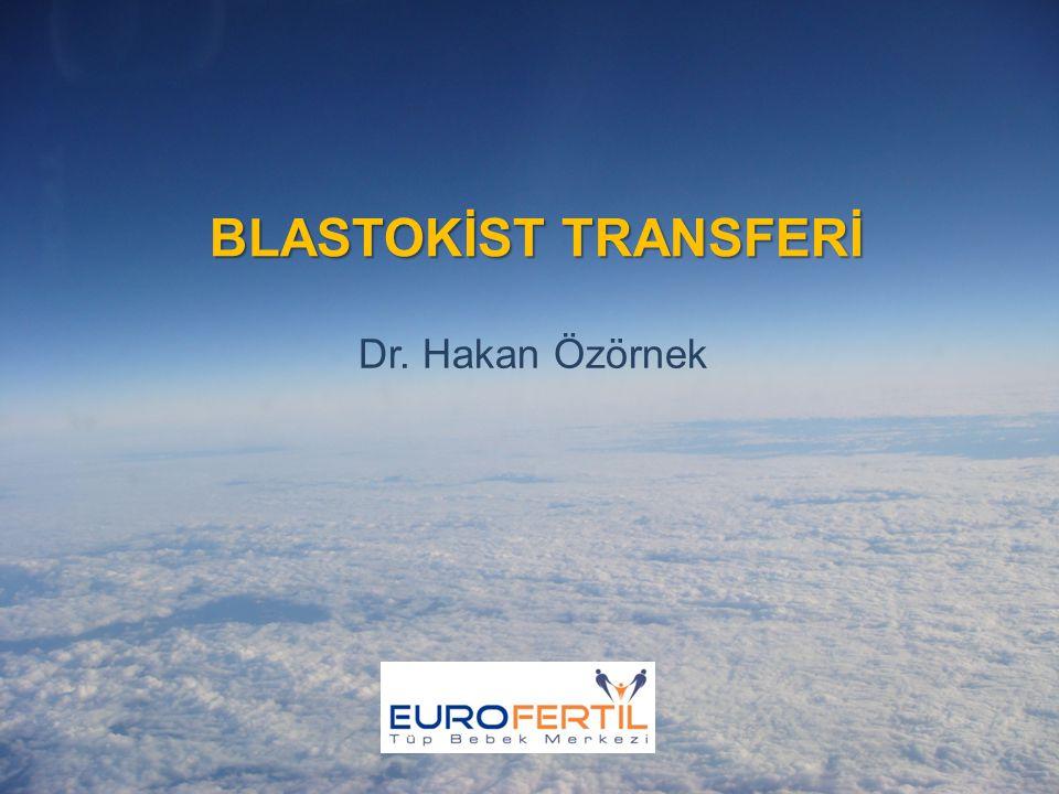 SONUÇ 3 Blastokist transferinin daha başarılı olduğu özel bir yaş grubu yoktur.