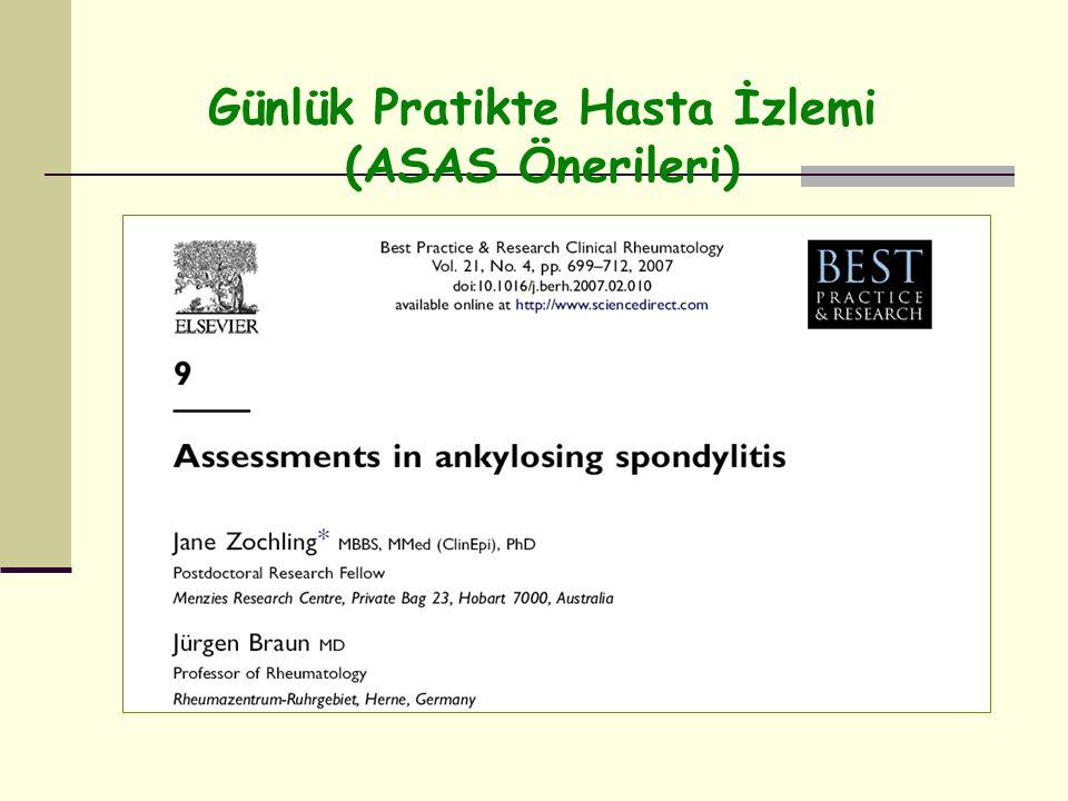Günlük Pratikte Hasta İzlemi (ASAS Önerileri)