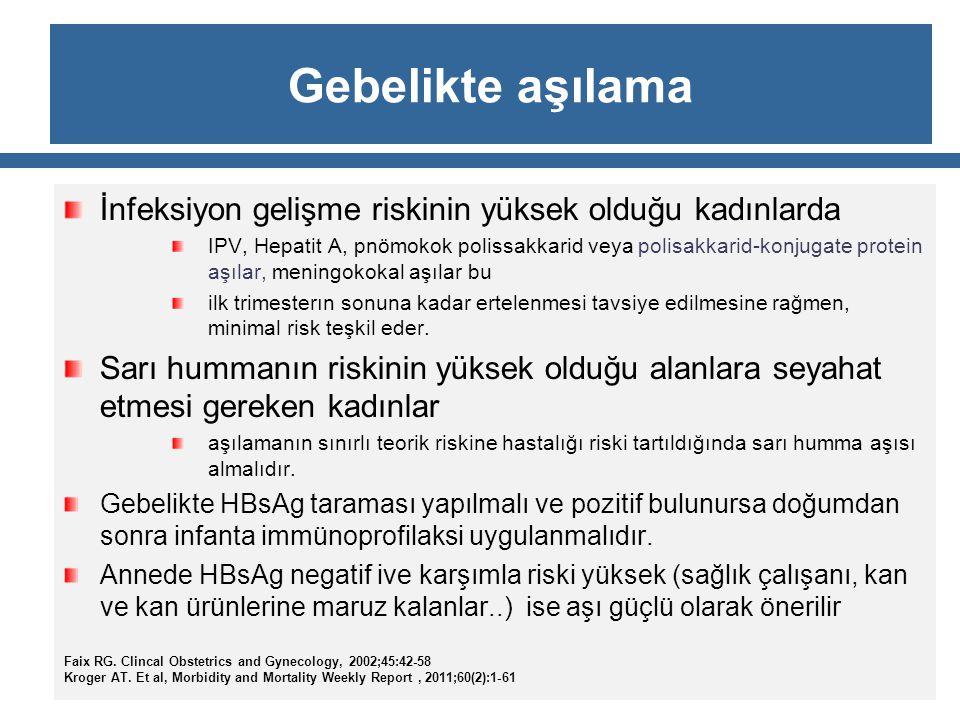 İmmun durum bozuklukları olan hastada Bütün inaktif aşılar güvenlidir Ve genel doz ve program önerilmektedir.