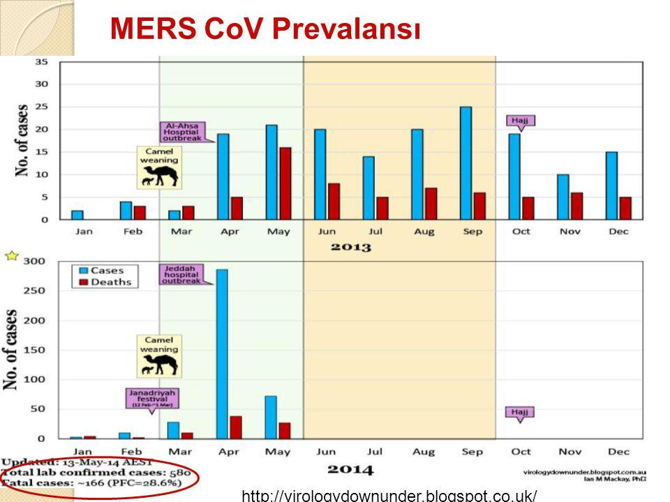 MERS CoV Prevalansı http://virologydownunder.blogspot.co.uk/