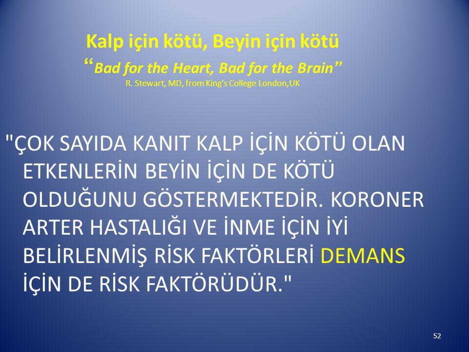52 Kalp için kötü, Beyin için kötü Bad for the Heart, Bad for the Brain R.