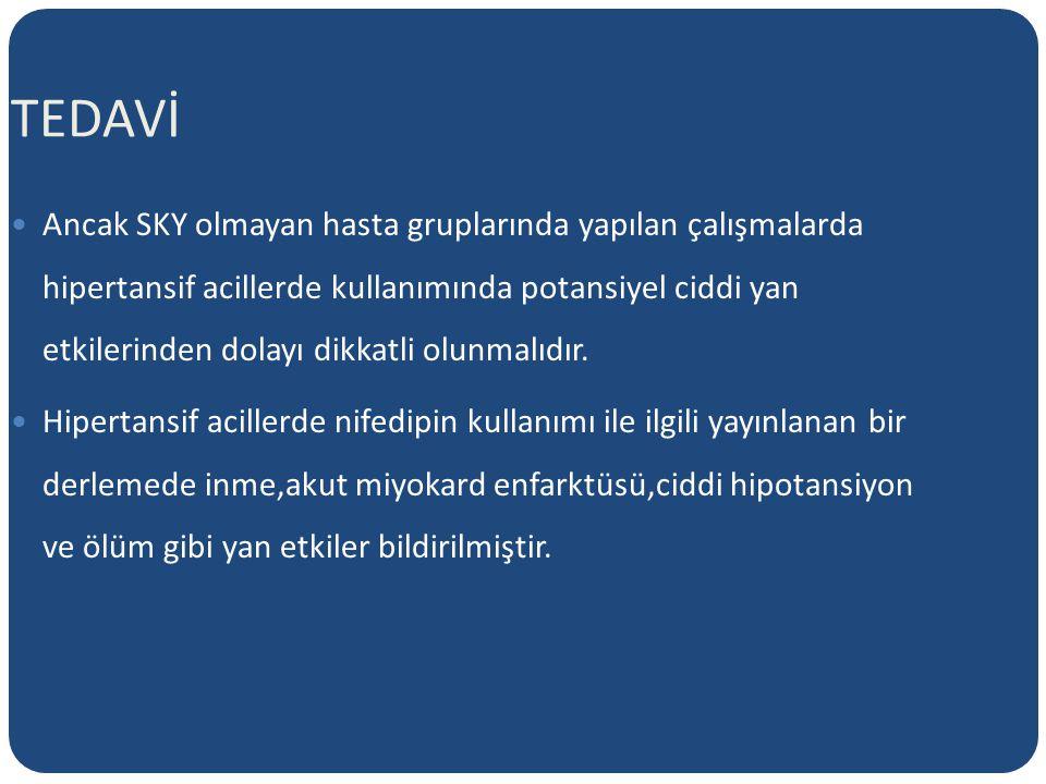 TEDAVİ Nifedipinin otonomik disrefleksi tedavisinde kullanımı ile bildirilmiş ciddi bir yan etkisi yoktur.