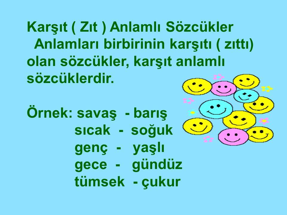 Eş Sesli ( Sesteş) Sözcükler Yazılışları ve okunuşları aynı; anlamları farklı olan sözcüklere eş sesli ( sesteş) sözcükler denir.