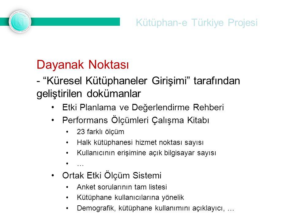 """Kütüphan-e Türkiye Projesi Dayanak Noktası - """"Küresel Kütüphaneler Girişimi"""" tarafından geliştirilen dokümanlar Etki Planlama ve Değerlendirme Rehberi"""