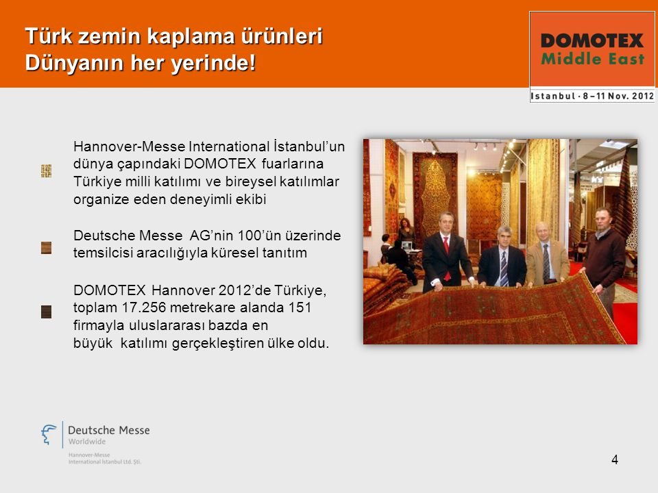 4 Türk zemin kaplama ürünleri Dünyanın her yerinde.