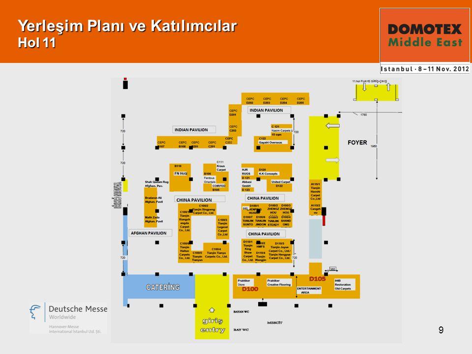 9 Yerleşim Planı ve Katılımcılar Hol 11