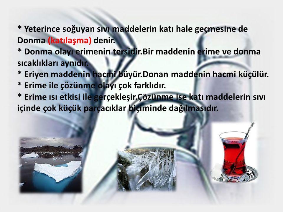 2)Buharla ş ma ve Yo ğ unla ş ma (Yo ğ u ş ma) * Yeterince ısınan sıvı maddelerin gaz haline geçmesine buharlaşma denir.