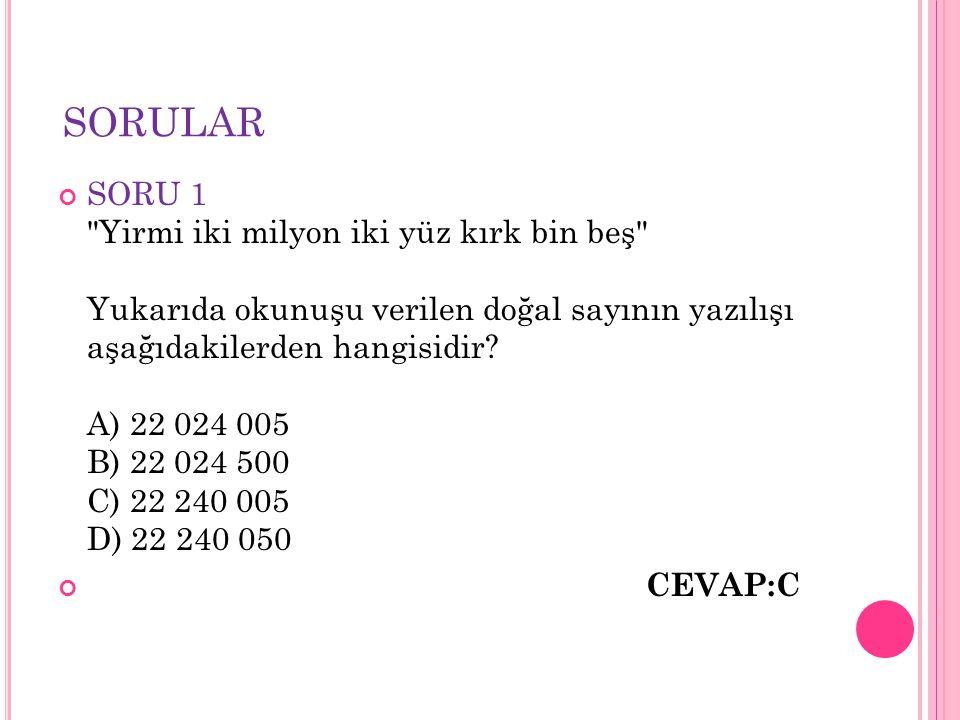 SORULAR SORU 1