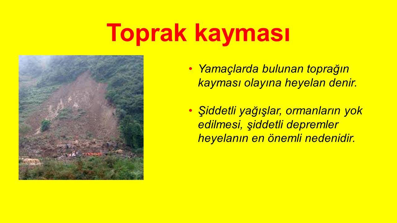 Beraber cevaplayalım: Boş yerleri ağaçlandırmalıyız. Ormanları korumalıyız. Tarlaları eğime ters yönde sürmeliyiz. Erozyonun zararları konusunda halkı