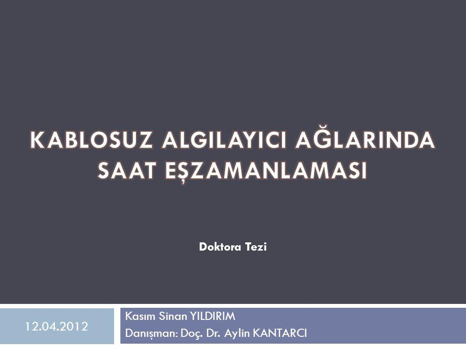 Kasım Sinan YILDIRIM Danışman: Doç. Dr. Aylin KANTARCI Doktora Tezi 12.04.2012