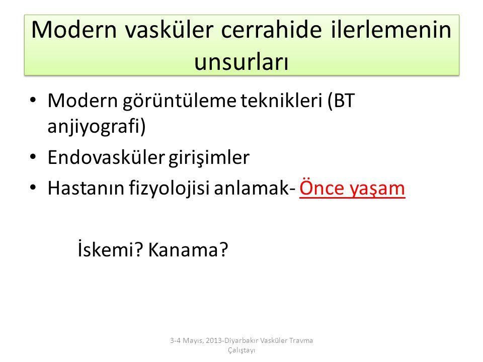 Ortopedik, yumuşak doku ve sinir hasarı ile olan üst extremite arteryel yaralanmaları 3-4 Mayıs, 2013-Diyarbakır Vasküler Travma Çalıştayı