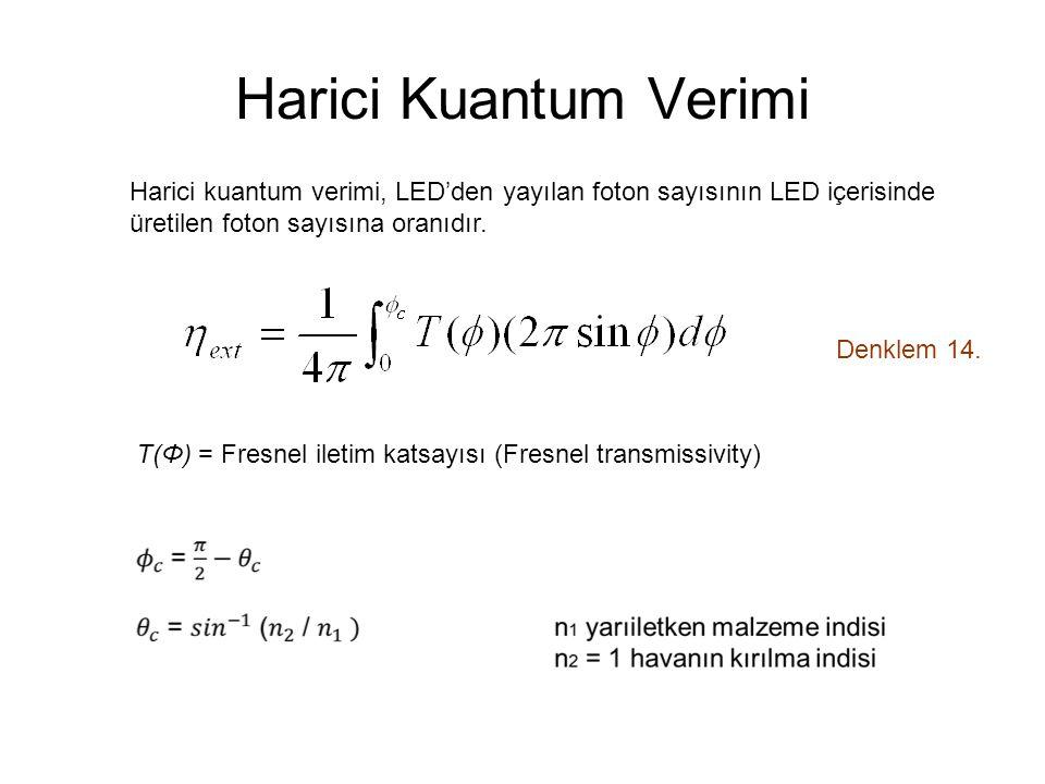 Harici Kuantum Verimi Denklem 14.