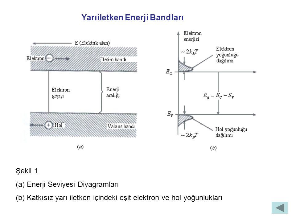 Intrinsic (Katkısız) Taşıyıcı Yoğunluğu Denklem 1.