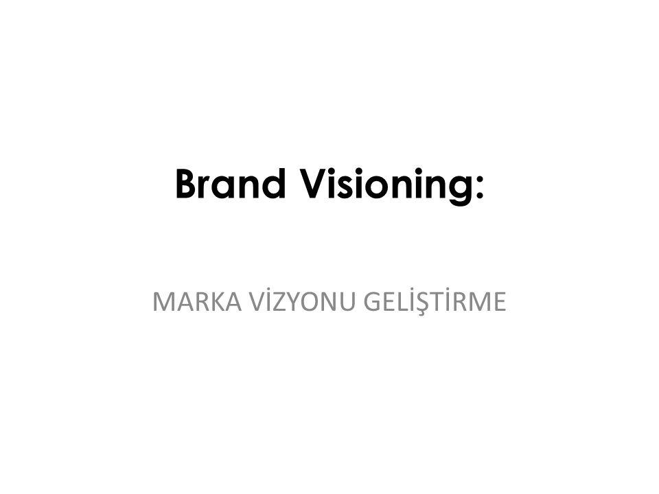 Marka Geliştirme ve yerleştirme süreci: Brand Visioning