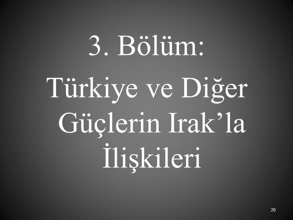 3. Bölüm: Türkiye ve Diğer Güçlerin Irak'la İlişkileri 20