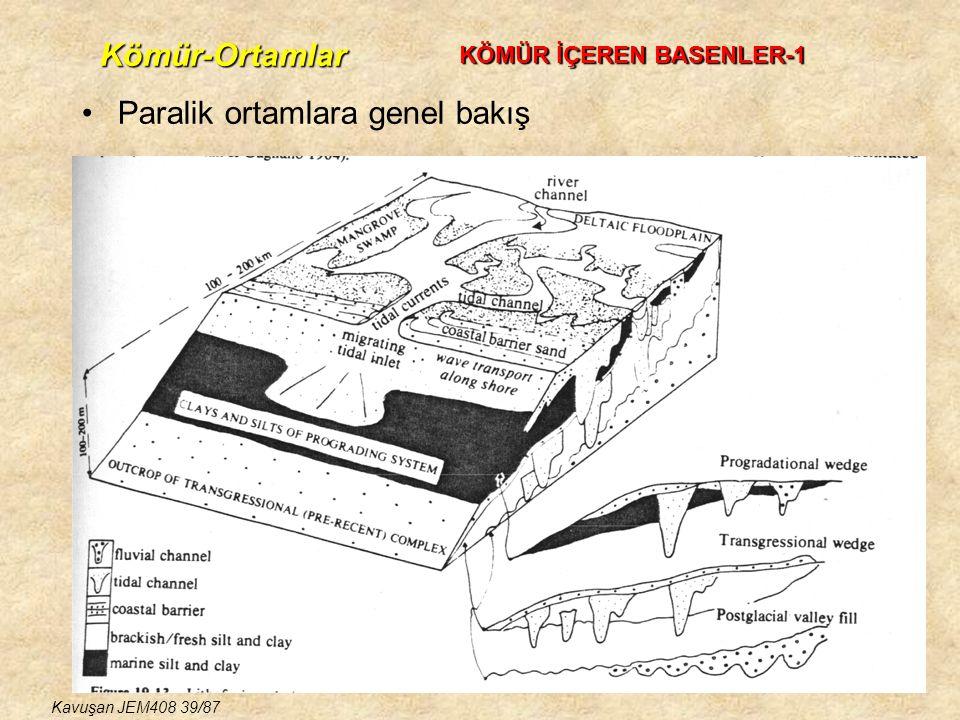 Paralik ortamlara genel bakış KÖMÜR İÇEREN BASENLER-1 Kömür-Ortamlar Kavuşan JEM408 39/87
