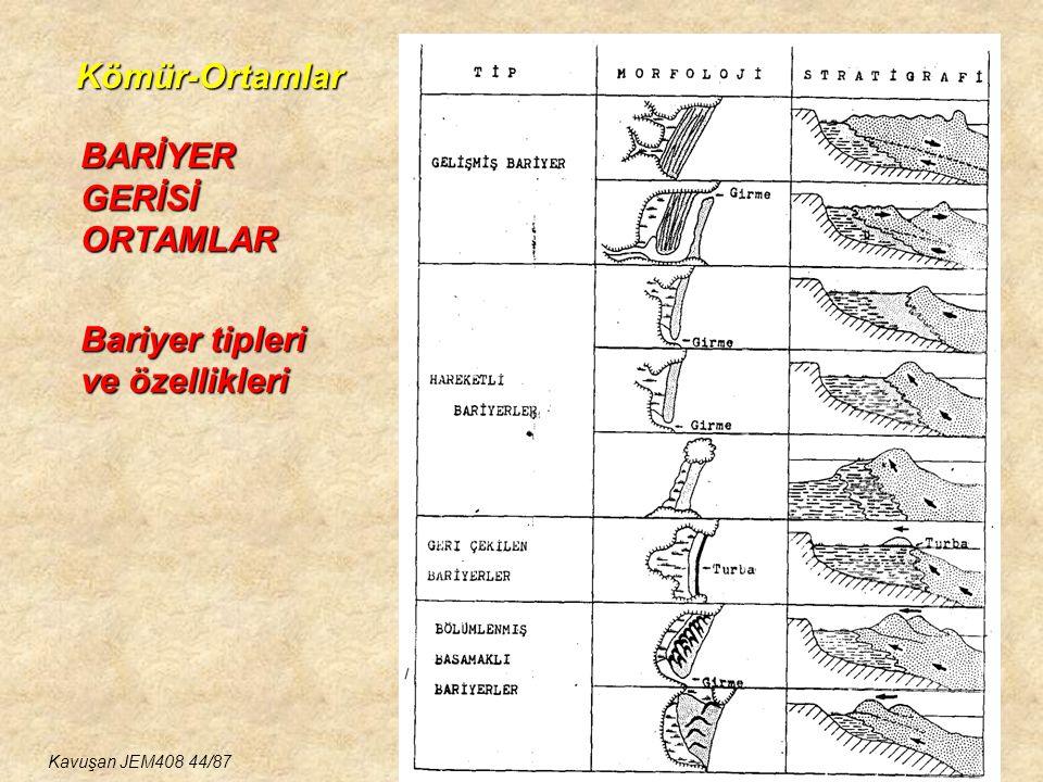 Kömür-Ortamlar BARİYER GERİSİ ORTAMLAR Bariyer tipleri ve özellikleri KÖMÜR İÇEREN BASENLER-1 Kavuşan JEM408 44/87